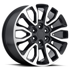 Factory Reproductions Wheels FR 53 Ford Raptor - Black Machine Face Rim