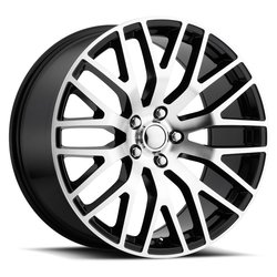 Factory Reproductions Wheels FR 54 Mustang Perf - Black Machine Face Rim