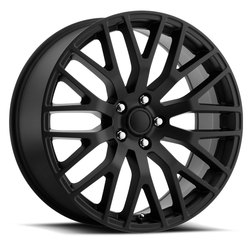 Factory Reproductions Wheels FR 54 Mustang Perf - Satin Black Rim
