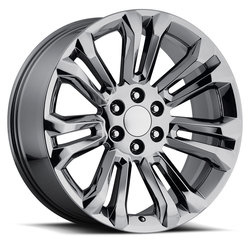 Factory Reproductions Wheels FR 55 GMC - PVD Black Chrome Rim