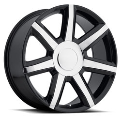 Factory Reproductions Wheels FR 56 Escalade Lux - Black/Chrome Rim