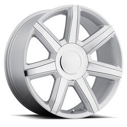 Factory Reproductions Wheels FR 56 Escalade Luxury - Silver/Chrome Inserts Rim