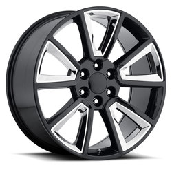 Factory Reproductions Wheels FR 57 Chevy Tahoe - Black / Chrome Rim