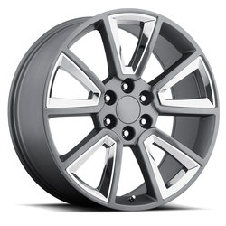 Factory Reproductions Wheels FR 57 Chevy Tahoe - Grey / Chrome - 24x10