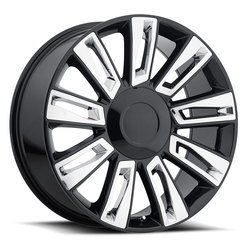 Factory Reproductions Wheels FR 58 Escalade - Black/Chrome Rim