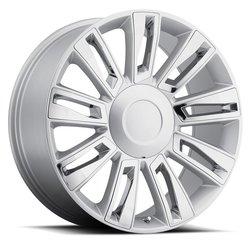 Factory Reproductions Wheels FR 58 Escalade - Silver/Chrome Inserts Rim
