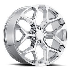 Factory Reproductions Wheels FR 59 Chevy Snowflake - Chrome Rim