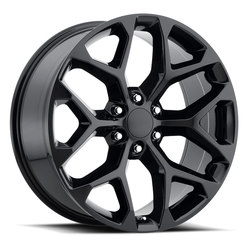 Factory Reproductions Wheels FR 59 Chevy Snowflake - Gloss Black Rim - 20x9