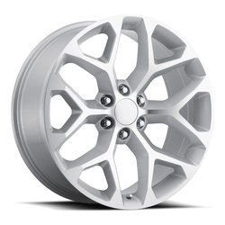 Factory Reproductions Wheels FR 59 Chev Snowflke - Silver/Machined Rim