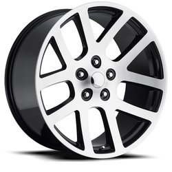 Factory Reproductions Wheels FR 60 Ram SRT10 - Black Machine Face - 24x10