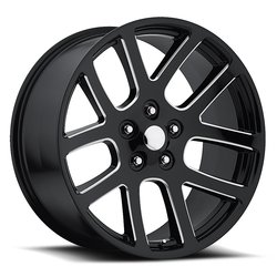 Factory Reproductions Wheels FR 60 Ram SRT10 - Black Ball Milled Rim