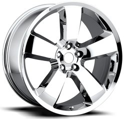 Factory Reproductions Wheels FR 61 Charger - Chrome Rim - 22x10