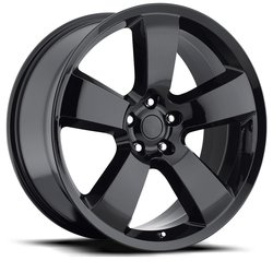Factory Reproductions Wheels FR 61 Charger - Gloss Black Rim - 20x9