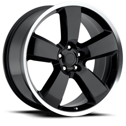 Factory Reproductions Wheels FR 61 Charger - Black Machine Lip Rim