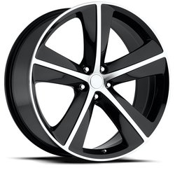 Factory Reproductions Wheels FR 62 Challenger - Black Machine Face - 20x9