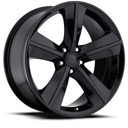 Factory Reproductions Wheels FR 62 Challenger - Gloss Black Rim