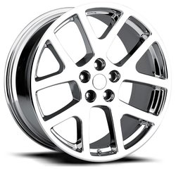 Factory Reproductions Wheels Factory Reproductions Wheels FR 64 Jeep Viper - PVD Black Chrome - 20x8.5