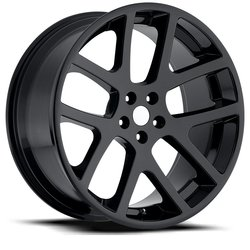 Factory Reproductions Wheels FR 64 Jeep Viper - Gloss Black Rim