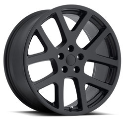 Factory Reproductions Wheels FR 64 Jeep Viper - Satin Black Rim - 22x10