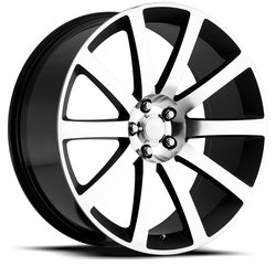 Factory Reproductions Wheels FR 65 Chrysler 300c - Black Machine Face Rim