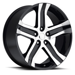 Factory Reproductions Wheels FR 69 Ram RT - Black Machine Face Rim