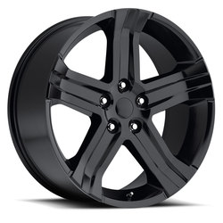 Factory Reproductions Wheels FR 69 Ram RT - Gloss Black Rim