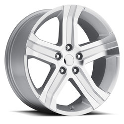 Factory Reproductions Wheels FR 69 Ram RT - Silver Machine Face Rim