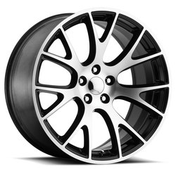 Factory Reproductions Wheels FR 70 Hellcat - Black Machine Face Rim - 22x10