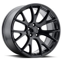 Factory Reproductions Wheels FR 70 Hellcat - Gloss Black Rim - 22x10