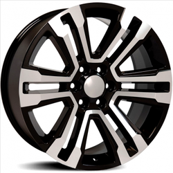 Factory Reproductions Wheels FR 72 Escalade - Black Machined Face Rim - 26x10