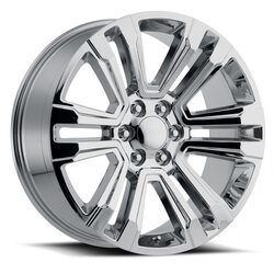 Factory Reproductions Wheels FR 72 Escalade - Silver Machined Face Rim