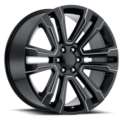 Factory Reproductions Wheels FR 72 Escalade - Black Ball Milled Rim - 24x10