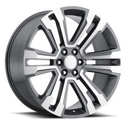 Factory Reproductions Wheels FR 72 Escalade - Grey Machine Face Rim - 26x10