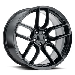 Factory Reproductions Wheels FR 74 Dodge Widebody - Gloss Black Rim