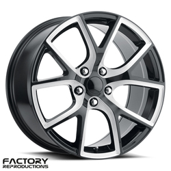Factory Reproductions Wheels FR 75 Jeep Trackhawk - Gloss Black/Milled