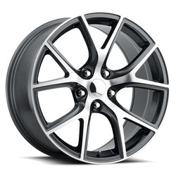 Factory Reproductions Wheels FR 75 Jeep Trackhawk - Grey w/Machined Face Rim