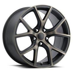 Factory Reproductions Wheels FR75 - Satin Black/Machined/Bronze Rim