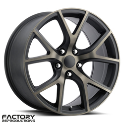 Factory Reproductions Wheels FR 75 Jeep Trackhawk - Satin Black/Machined Face