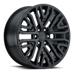 Factory Reproductions Wheels FR93 GMC Mesh Split - Gloss Black Rim - 22x9
