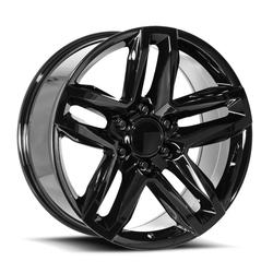 Factory Reproductions Wheels FR94 Z71 Split 5 Spoke - Gloss Black Rim - 22x9