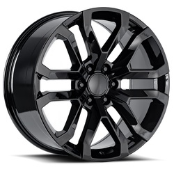 Factory Reproductions Wheels FR95 2019 Denali - Gloss Black Rim - 22x9