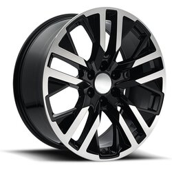 Factory Reproductions Wheels FR 96 GMC CarbonPro - Black Machined Face Rim - 22x9