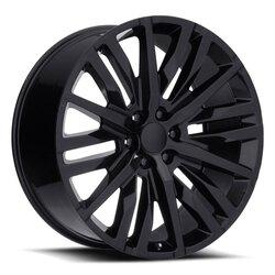 Factory Reproductions Wheels FR 97 GMC Split-6 Spoke - Gloss Black Rim - 22x9
