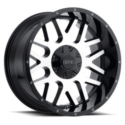 G-FX Wheels TR-Mesh 4 - Gloss Black Machined Face Rim
