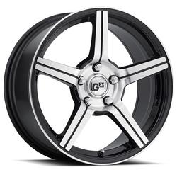GFX Wheels G50 - Gloss Black Machined Face - 15x7