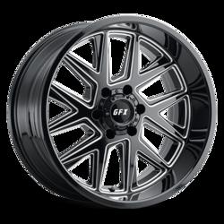 G-FX Wheels TM6 - Gloss Black Milled Rim