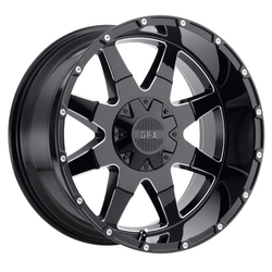 G-FX Wheels TR-12 - Gloss Black Milled - 20x9