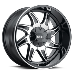 G-FX Wheels TR15 - Matte Black Machined Rim - 18x9