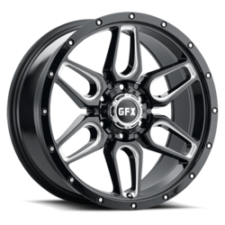 G-FX Wheels TR18 - Gloss Black Milled Rim - 18x9
