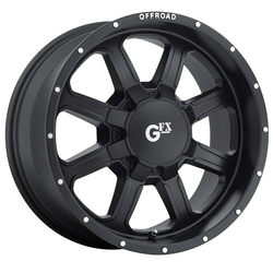 G-FX Wheels TR2 - Matte Black Machined Flange Rim